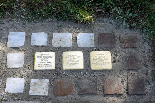 Stolpersteine im Außenbereich des Museums
