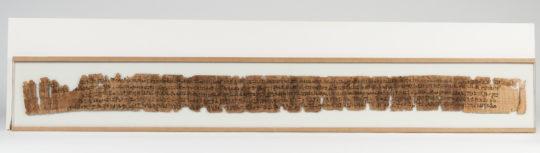 Ein langer beschrifteter Papyrus