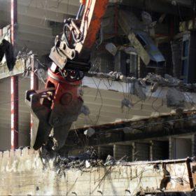 Abbruch der alten TU-Gebäude an der Arcisstraße
