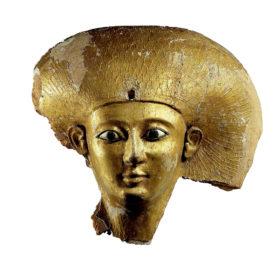Goldene Sargmaske der Königin Satdjehuti